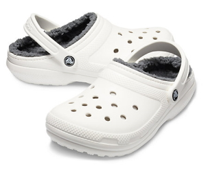 crocs with fur